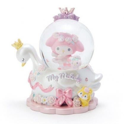 〔小禮堂〕美樂蒂 迷你造型玻璃雪球水晶球《粉白》耶誕雪球.2019聖誕系列