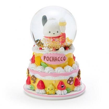 〔小禮堂〕帕恰狗 迷你造型玻璃雪球水晶球《紅黃》耶誕雪球.2019聖誕系列
