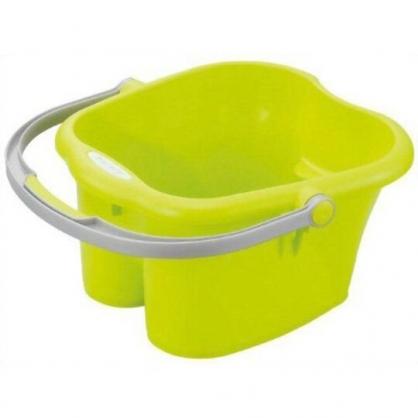〔小禮堂〕日本INOMATA 日製塑膠手提泡腳盆《綠》泡腳桶.足浴桶