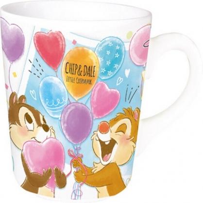 〔小禮堂〕迪士尼 奇奇蒂蒂 陶瓷馬克杯方巾組《藍棕.汽球》手帕.咖啡杯.茶杯