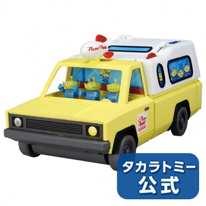 〔小禮堂〕迪士尼 玩具總動員 比薩店公仔餐車玩具組《黃藍》扮家家酒.兒童玩具
