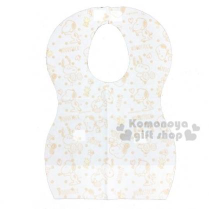 〔小禮堂〕史努比 嬰兒不織布拋棄式圍兜《8入.棕.點點》口水圍兜.口水巾