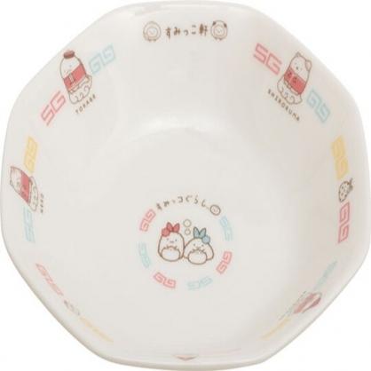〔小禮堂〕角落生物 八角形陶瓷盤湯匙組《白.中國服》炒飯盤.沙拉盤.調羹