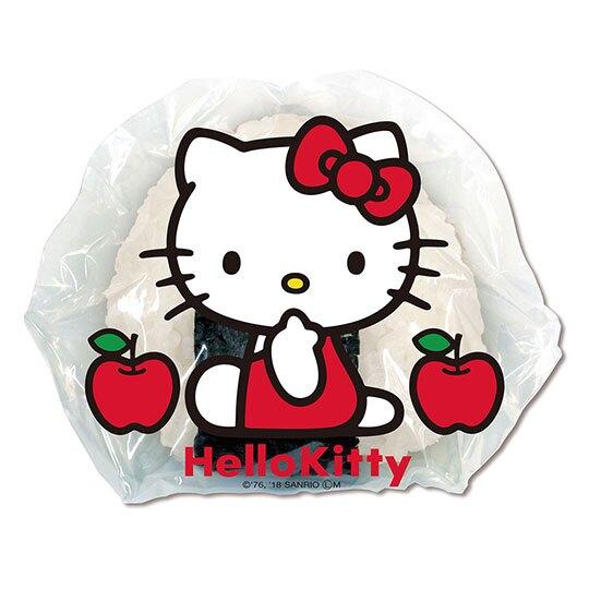 〔小禮堂〕Hello Kitty 日製飯糰包紙防油紙《4入.紅藍.大臉》17x16cm.食品包裝紙.銅板小物