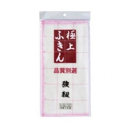 〔小禮堂〕日本極上 方形純棉抹布《白粉》30x30cm.毛巾
