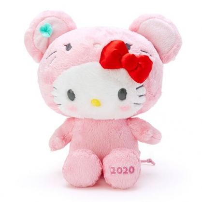 〔小禮堂〕Hello Kitty 生肖絨毛玩偶娃娃《S.粉》鼠年娃娃.2020新春特輯