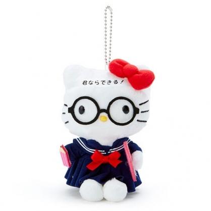 〔小禮堂〕Hello Kitty 制服絨毛玩偶娃娃吊飾《藍白》掛飾.鑰匙圈