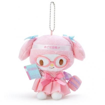 〔小禮堂〕美樂蒂 制服絨毛玩偶娃娃吊飾《粉綠》掛飾.鑰匙圈