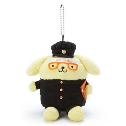 〔小禮堂〕布丁狗 制服絨毛玩偶娃娃吊飾《黑黃》掛飾.鑰匙圈
