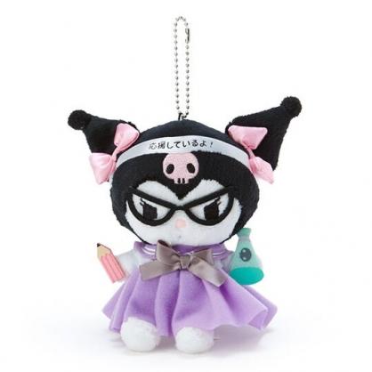 〔小禮堂〕酷洛米 制服絨毛玩偶娃娃吊飾《黑紫》掛飾.鑰匙圈