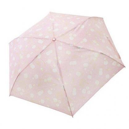 〔小禮堂〕角落生物 北極熊 頭型柄折疊雨傘《粉.冰淇淋》折傘.雨傘.雨具