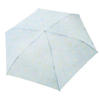〔小禮堂〕角落生物 恐龍 頭型柄折疊雨傘《藍.冰淇淋》折傘.雨傘.雨具