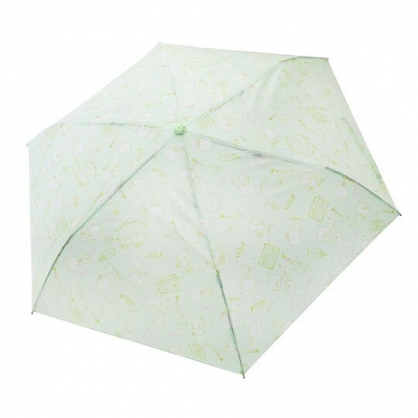 〔小禮堂〕角落生物 企鵝 頭型柄折疊雨傘《綠.冰淇淋》折傘.雨傘.雨具