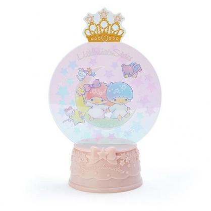 〔小禮堂〕雙子星 水晶球造型亮光擺飾《粉》耶誕擺飾燈.2019聖誕系列