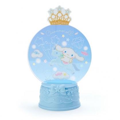 〔小禮堂〕大耳狗 水晶球造型亮光擺飾《藍》耶誕擺飾燈.2019聖誕系列