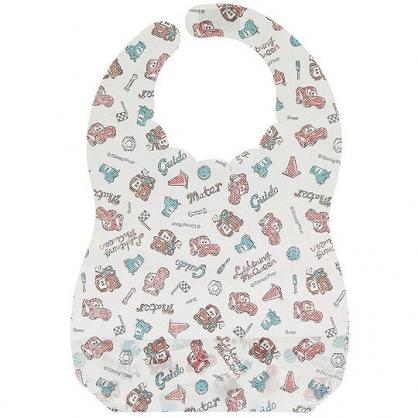 〔小禮堂〕迪士尼 閃電麥坤 嬰兒不織布拋棄式圍兜《10入.白紅.角色》口水圍兜.口水巾