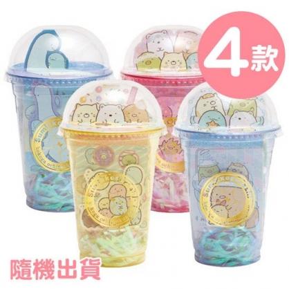 〔小禮堂〕角落生物 日製飲料杯造型文具手帕組《4款隨機.黃/藍/粉/綠》面紙.便條紙.毛巾