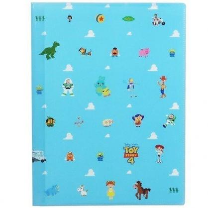 〔小禮堂〕迪士尼 玩具總動員4 雙開式文件夾《A4.淺藍.雲朵》L夾.資料夾.檔案夾