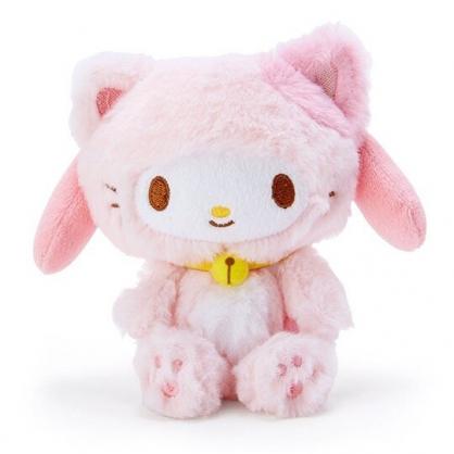 〔小禮堂〕美樂蒂 貓裝沙包絨毛玩偶娃娃《粉白》沙包玩具.擺飾