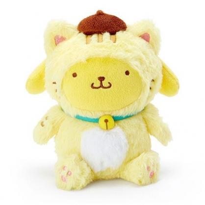 〔小禮堂〕布丁狗 貓裝沙包絨毛玩偶娃娃《黃白》沙包玩具.擺飾