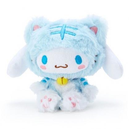 〔小禮堂〕大耳狗 貓裝沙包絨毛玩偶娃娃《藍白》沙包玩具.擺飾