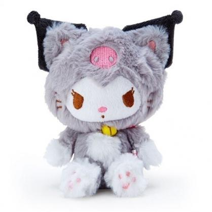 〔小禮堂〕酷洛米 貓裝沙包絨毛玩偶娃娃《灰白》沙包玩具.擺飾