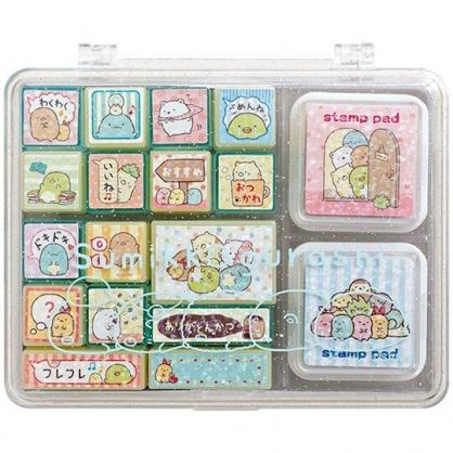 〔小禮堂〕角落生物 盒裝橡皮印章組《粉.探頭》印泥.玩具章.橡皮章