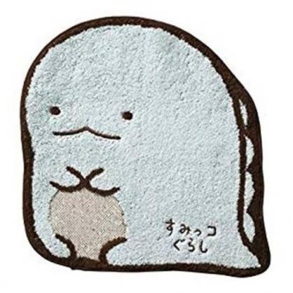 〔小禮堂〕角落生物 恐龍 全身造型純棉無捻紗小方巾《綠棕》25x25cm.毛巾.手帕