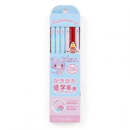 〔小禮堂〕甜夢貓 六角鉛筆組《12入.藍.香水瓶》2B.學童文具
