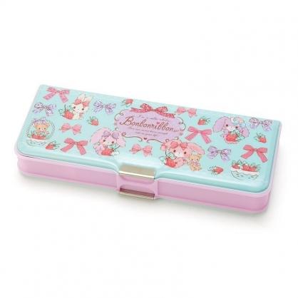 〔小禮堂〕蹦蹦兔 雙開多功能鉛筆盒《綠粉.草莓》筆袋.學童文具