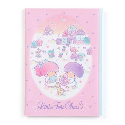 〔小禮堂〕雙子星 直式扣式票據收納本《粉白.雲上》卡片夾.票據夾.收納夾