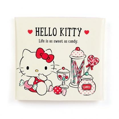 〔小禮堂〕Hello Kitty 橫式扣式票據收納本《米紅.拿糖果》卡片夾.票據夾.收納夾