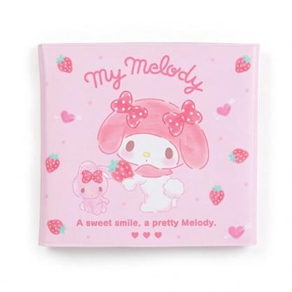 〔小禮堂〕美樂蒂 橫式扣式票據收納本《粉白.拿草莓》卡片夾.票據夾.收納夾
