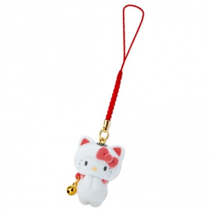 〔小禮堂〕Hello Kitty 招財貓植絨玩偶娃娃吊飾《紅白》新年掛飾.鑰匙圈.2020新春特輯