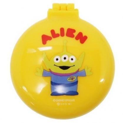〔小禮堂〕迪士尼 三眼怪 圓形掀蓋氣墊隨身鏡梳組《黃.站姿》隨身鏡.隨身梳