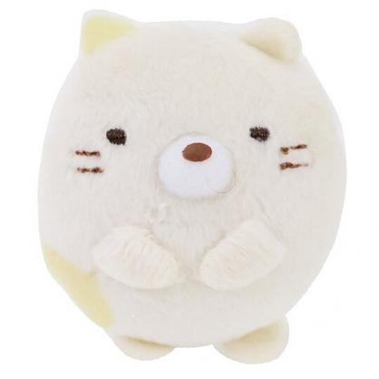 〔小禮堂〕角落生物 貓咪 迷你絨毛玩偶娃娃胸針《米》造型別針.胸章
