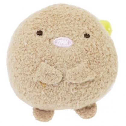 〔小禮堂〕角落生物 豬排 迷你絨毛玩偶娃娃胸針《棕》造型別針.胸章