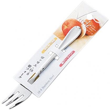 〔小禮堂〕日本KOHBEC 日製不鏽鋼甜點叉子《銀》點心叉.水果叉