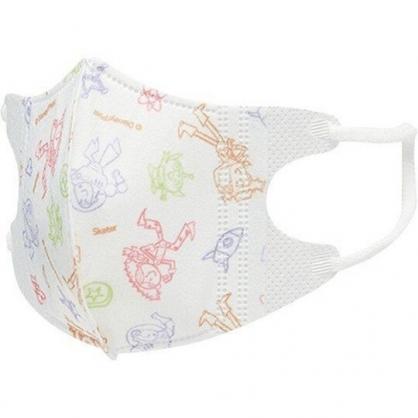 〔小禮堂〕迪士尼 玩具總動員 兒童立體三層不織布口罩組《5入.白.Q版》面罩.衛生用品