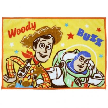 〔小禮堂〕迪士尼 玩具總動員 單人毛毯披肩《棕黃.半身》70x100cm.薄毯.單人毯