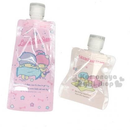 〔小禮堂〕雙子星 可捲式塑膠分裝袋組《2入.粉藍.洗澡》乳液袋.分類袋.銅板小物
