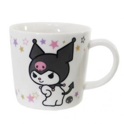 〔小禮堂〕酷洛米 日製陶瓷馬克杯《黑白.轉身》茶杯.咖啡杯.金正陶器