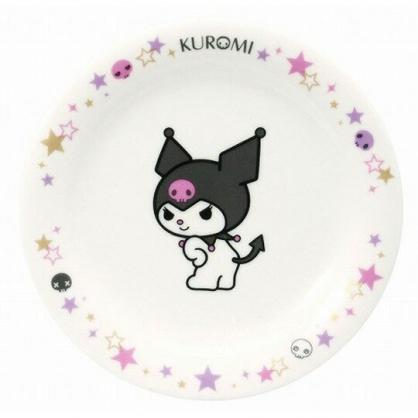 〔小禮堂〕酷洛米 日製陶瓷圓盤《黑白.轉身》點心盤.沙拉盤.金正陶器
