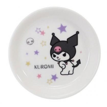 〔小禮堂〕酷洛米 日製迷你陶瓷圓盤《黑白.轉身》醬料盤.小菜碟.金正陶器