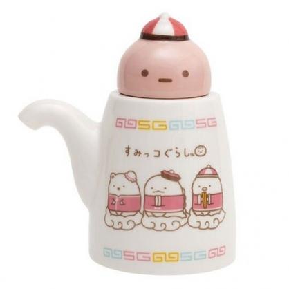 〔小禮堂〕角落生物 造型陶瓷醬油瓶《棕紅.中國服》調味瓶.醋瓶