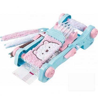 〔小禮堂〕角落生物 豪華DIY編織圍巾製作玩具組《藍粉》勞作玩具.美勞玩具