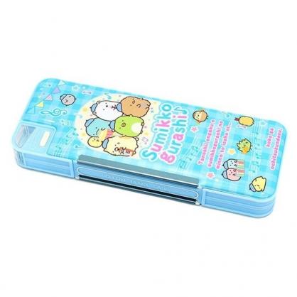 〔小禮堂〕角落生物 日製雙開多功能鉛筆盒《藍.樂隊》筆袋.學童文具