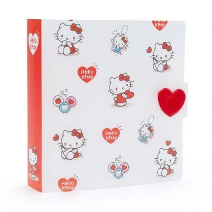〔小禮堂〕Hello Kitty 8頁橫式卡片收納本相本《白》資料本.演唱會粉絲收納系列
