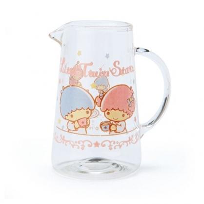 〔小禮堂〕雙子星 無蓋透明耐熱玻璃牛奶盅《粉.下午茶》75ml.奶精盅.果醬盅
