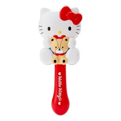 〔小禮堂〕Hello Kitty 全身造型塑膠氣墊手握梳《紅白》氣墊梳.直梳